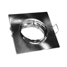 Nylon Satin tilting square ring (PVC) | Silver Sanz