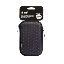Smile Black Geometric 2.5 inch Hard Drive Carrying Case