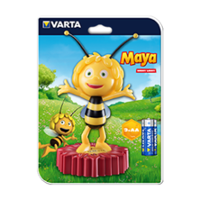 VARTA Night Light The Maya 3AA Table Honey Bee included | Silver Sanz