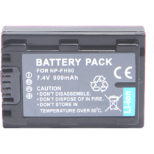 Video battery DSK NP-FH50 Sony 900 mAh | Silver Sanz