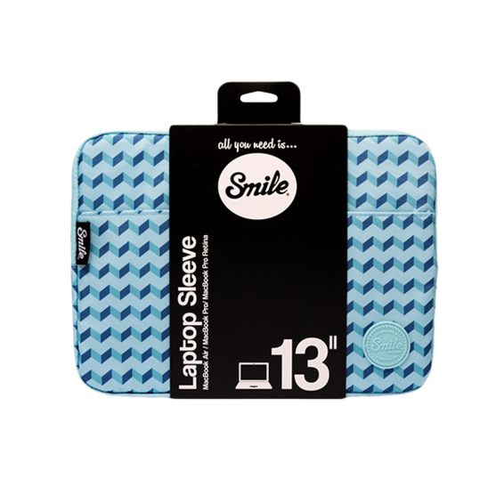 Funda Smile Sleeve bag Blue Geometric para ordenadores y tablets de hasta 13''