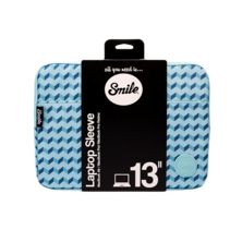 Blue Geometric Smile Sleeve bag for computers and tablets up to 13 ''