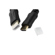 HDMI V 1.4 BASIC cable - M / M - 5m black | Silver Sanz