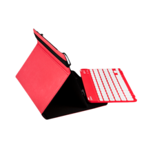 Universal Gripcase + Keyboard Case (9 '' - 10.1 '') - Red | Silver Sanz