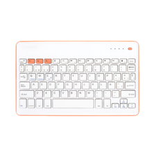 Wireless KB Silver HT White + Peach | Silver Sanz