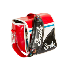SMILE CAMERA BAG size S - PIN UP | Silver Sanz
