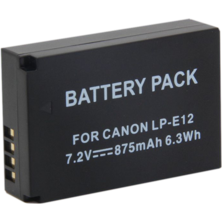 Battery photo DSK LP-E12 Canon 875mAh | Silver Sanz