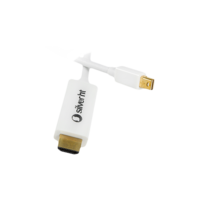 CABLE MiniDisplay Port 1.2a (male) to HDMI (male) - 4K - 1.8m (for Apple) white | Silver Sanz
