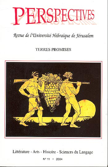 Perspectives: Revue De L'universite Hebraique De Jerusalem No.11 - Terres Promises /