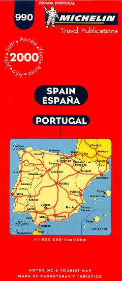 Spain - Map no. 990 / Michelin