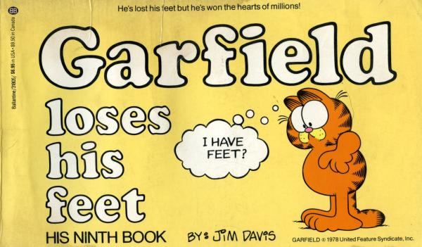 Garfield Loses His Feet - his ninth book / Jim Davis