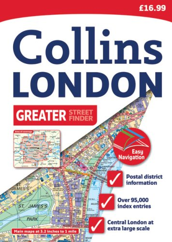Greater London Street Atlas: 20th Edition (Collins Streetfinder) / Collins UK