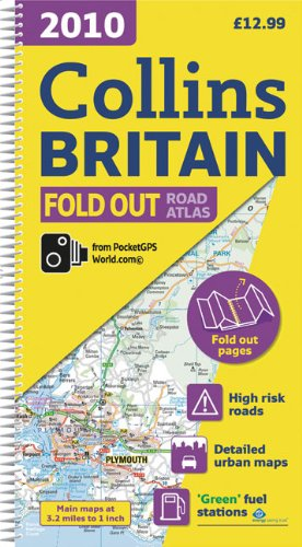 2010 Collins Fold Out Road Atlas Britain (International Road Atlases) / Collins UK