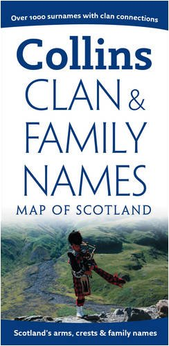 Clan and Family Names Map of Scotland (Collins Pictorial Maps) / Collins UK