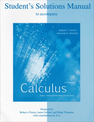 mcgraw hill scienceengineeringmath students solutions manual to accompany calculus early transcendental functions robert t smith fandeluxe Gallery