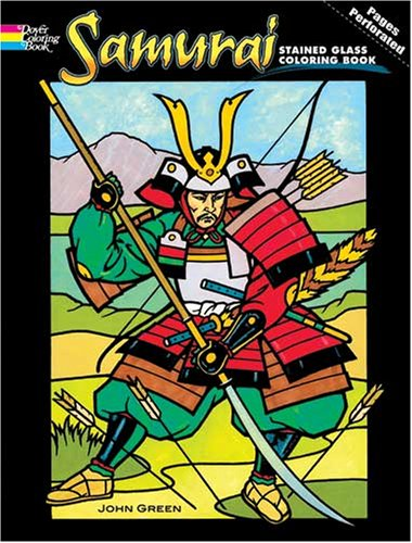 Samurai Stained Glass Coloring Book (Dover Pictorial Archive) - John Green
