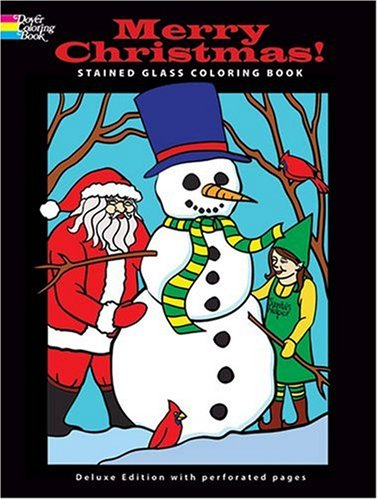 Merry Christmas! Stained Glass Coloring Book (Dover Coloring Book) - John Green