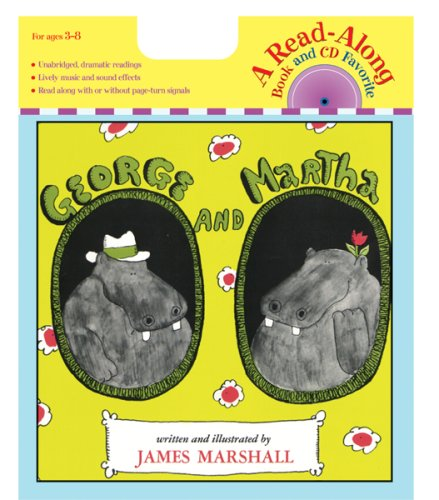 George and Martha Book & CD (Read Along Book & CD) - James Marshall