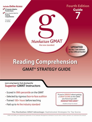 Reading Comprehension GMAT Strategy Guide 7 Fourth Edition Manhattan The New Standard