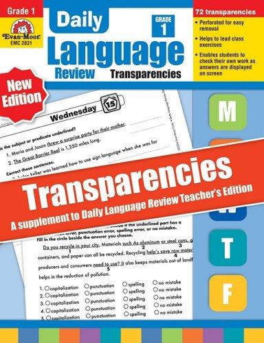 Daily Language Review Transparencies, Grade 1 - Evan-Moor
