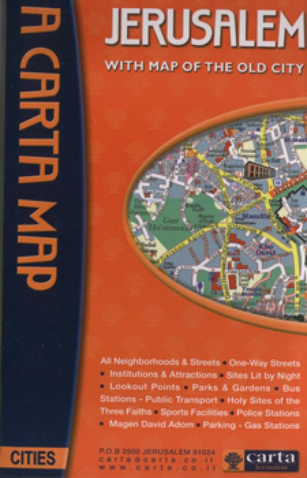 A Carta Map - Jerusalem - With Map of the Old City - כללי