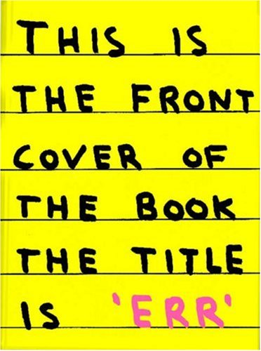 Err (New Writing) / David Shrigley