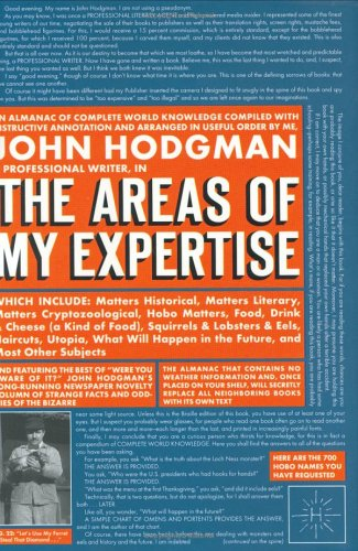 The Areas of My Expertise - John Hodgman