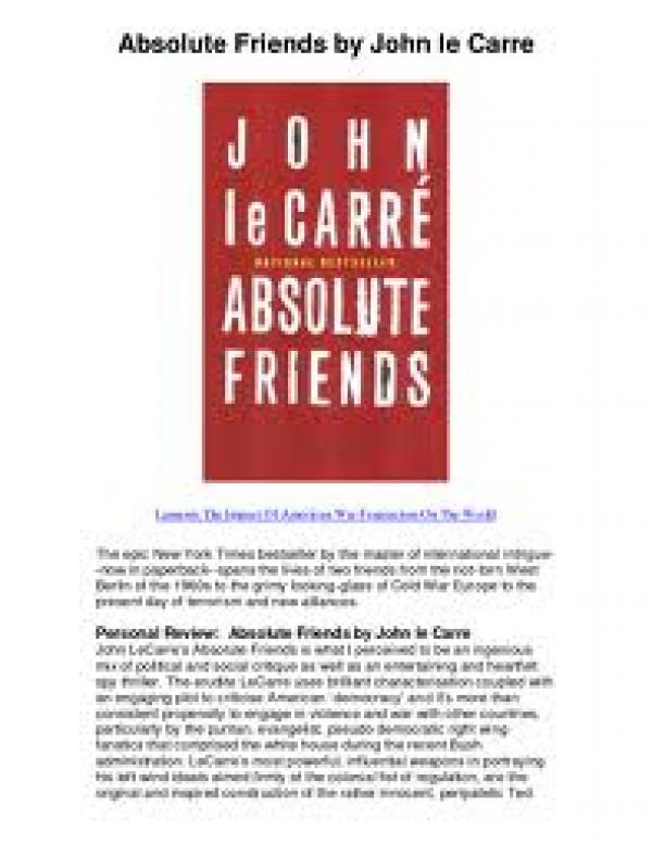 Absolute Friends - John Carre