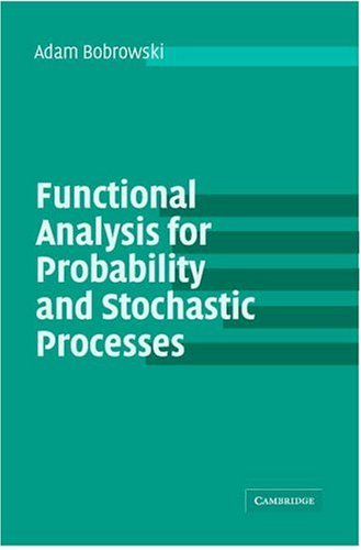 "Functional Analysis for Probability and Stochastic Processes: An Introduction <g:plusone href=""http://www.books-by-isbn.com/0-521/0521539374-Functional-Analysis-for-Probability-and-Stochastic-Processes-An-Introduction-0-521-53937-4.html"" count=""false /"