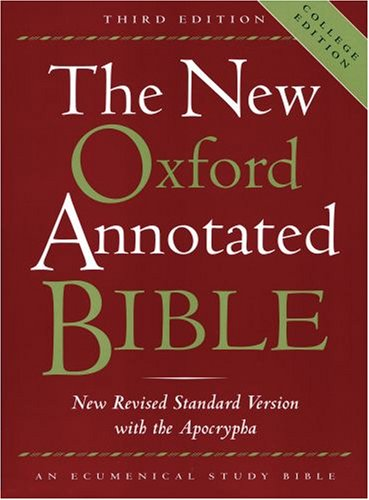 "New Oxford Annotated Bible-NRSV-College <g:plusone href=""http://www.books-by-isbn.com/0-19/0195284852-New-Oxford-Annotated-Bible-NRSV-College-0-19-528485-2.html"" count=""false""></g:plusone> / Michael D. Coogan"
