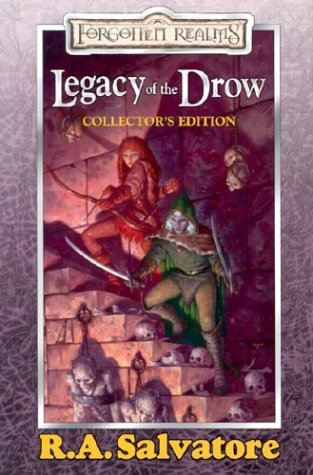 "Legacy of the Drow: Collector's Edition <g:plusone href=""http://www.books-by-isbn.com/0-7869/0786929081-Legacy-of-the-Drow-Collector-s-Edition-Forgotten-Realms-Legacy-of-the-Drow-0-7869-2908-1.html"" count=""false""></g:plusone> - R.A. Salvatore"