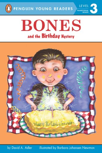 "Bones and the Birthday Mystery (Puffin Easy-To-Read Bones - Level 2) <g:plusone href=""http://www.books-by-isbn.com/0-14/0142414328-Bones-and-the-Birthday-Mystery-Puffin-Easy-To-Read-Bones-Level-2-0-14-241432-8.html"" count=""false""></g:plusone> / David A. Adler"