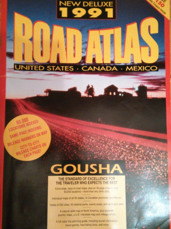 NEW DELUXE 1991 ROAD ATLAS - UNITED STATES - CANADA - MEXICO - כללי