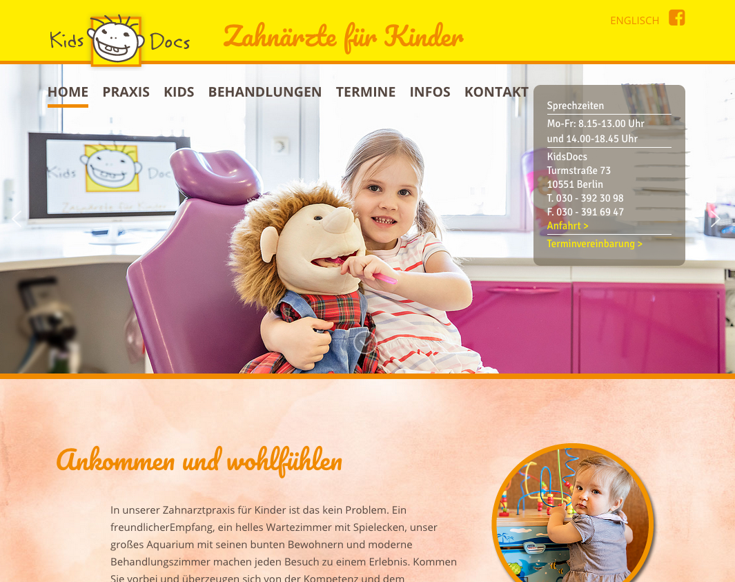 KidsDocs - Zahnärzte für Kinder Moabit Tiergarten, Turmstraße in Berlin