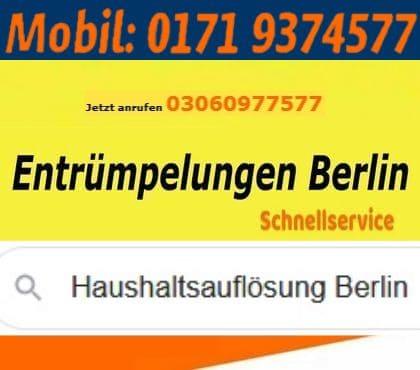 Wohnungsauflösung Berlin, Tempelhofer Weg in Berlin