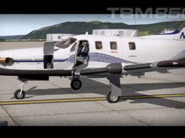 Alabeo TBM850 X-Plane