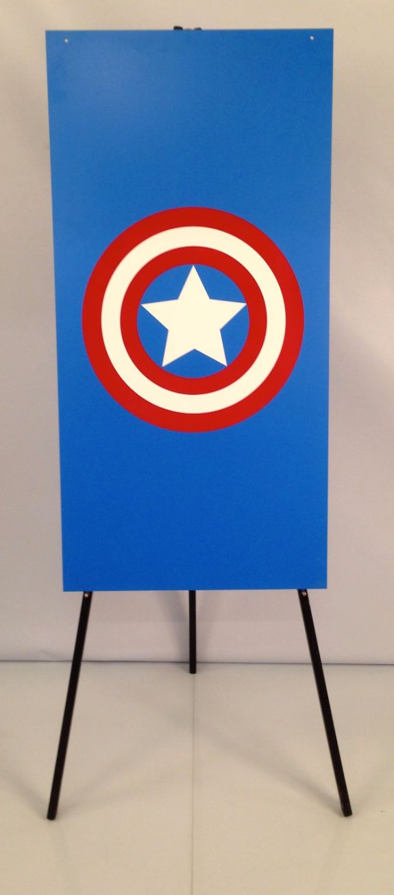 Captain America Foamex Flag
