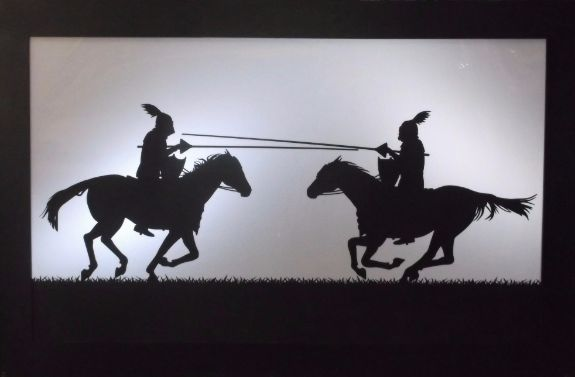 Large Medieval Jousting Silhouette Panel