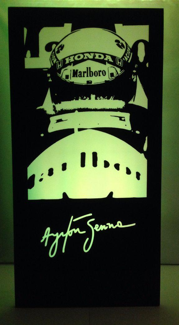 Ayrton Senna Silhouette Panel