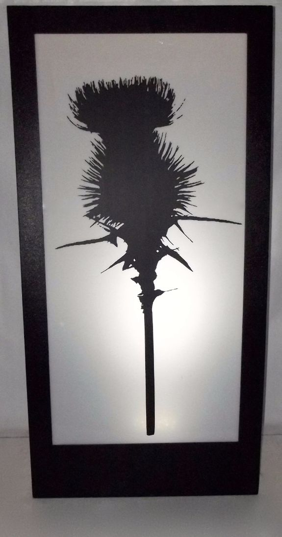 Scottish Thistle Silhouette