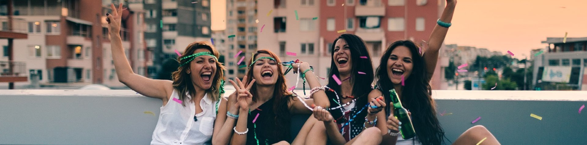 girls partying on balcony