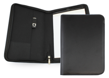Clapham PU A5 Zipped Conference Folder