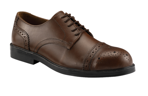 Black Smooth Oxford Brogue Safety Shoe