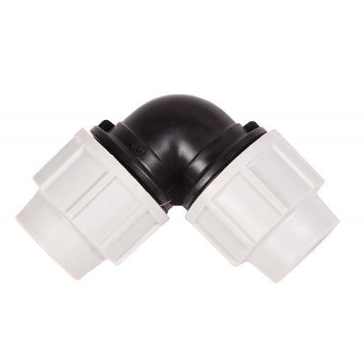 Coude 90° PVC COMP. 25x25