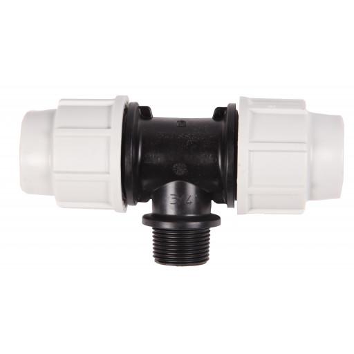 TE 90° FILETE PVC COMP. 25x3/4x25