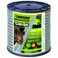Ruban de clôture CANYON 13 mm x 500 m  - jaune/bleu