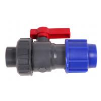 Vanne PVC COMPR + UNION 25x3/4