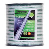 Ruban blanc et vert 12mm / 200m CLASSIC