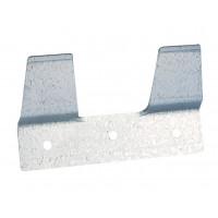 Plaquette d'attache pour seau à veau en métal