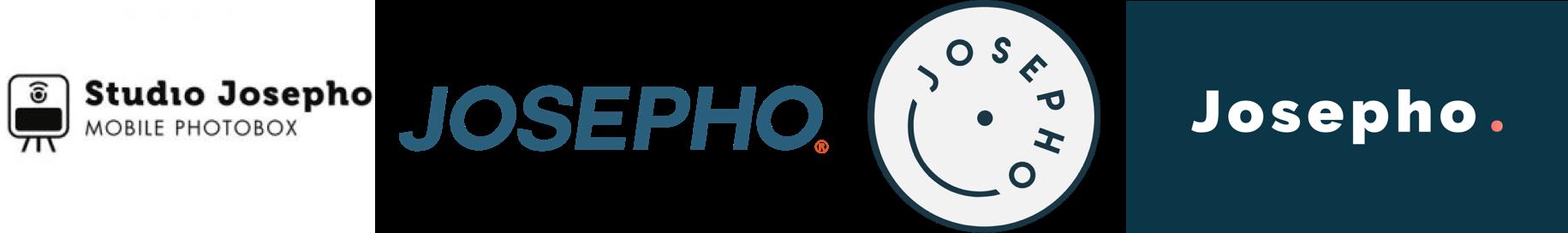 Montre les différents Logo de Josepho au fil du temps.